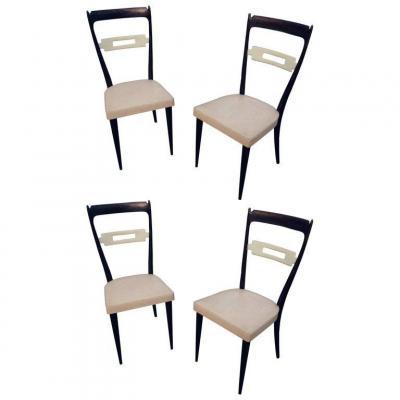 Suite Of 4 Chairs Italy 1960, Edition Consorzio Sedie Friuli