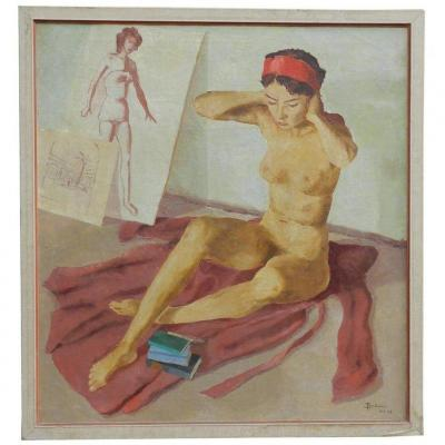 Bräuner, Oil On Canvas Signed And Dated 53