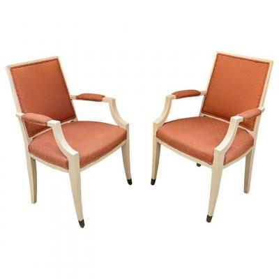Pair Of Art Deco Period Armchairs, In The Style Of André Arbus, Circa 1930/1940