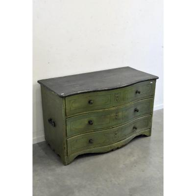 18th Crossbow Commode In Painted Fir (ht 75 X 120 X 60cm)