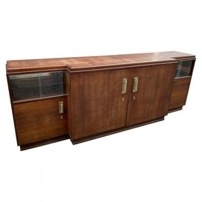 Large Art Deco Sideboard In Rosewood, Circa 1930 (280cm)