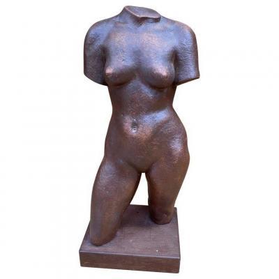 Adrien Dupagne (1889-1980) Africanist Sculpture In Terracotta, Circa 1940-1950