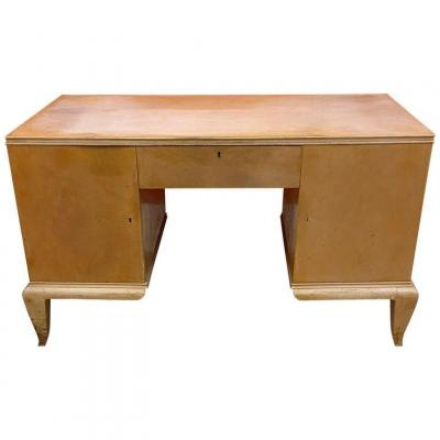 Art Deco Lacquered Wood Desk Attributed To René Prou, Circa 1940/1950