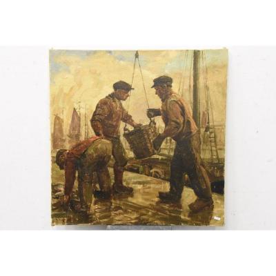 Oil On Canvas Pierre Verbeke (1895-1962)