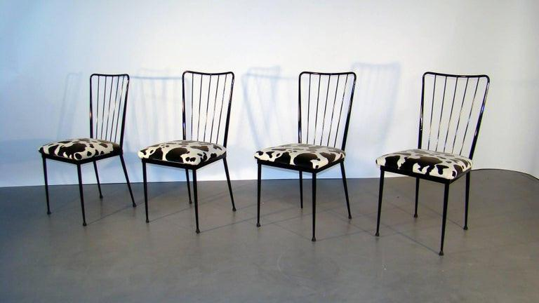 4 Chairs Circa 1960 In The Style Of Colette Gueden-photo-2