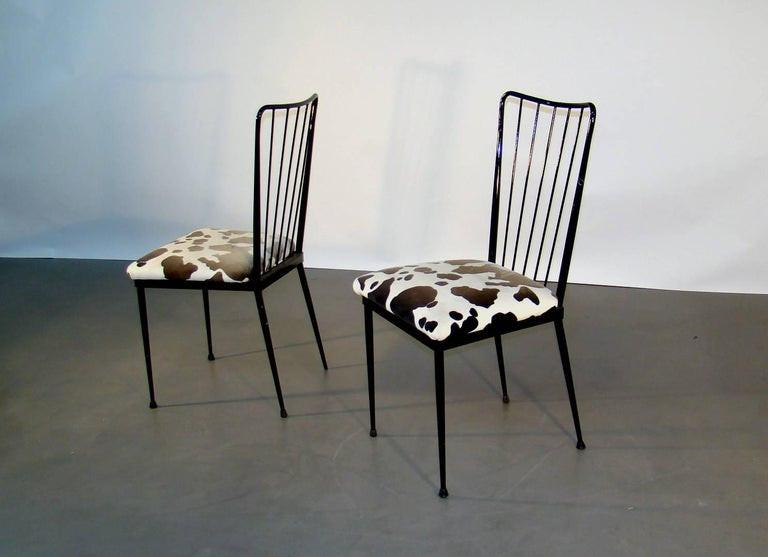 4 Chairs Circa 1960 In The Style Of Colette Gueden-photo-3