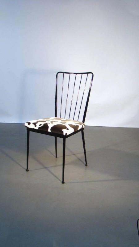 4 Chairs Circa 1960 In The Style Of Colette Gueden-photo-4