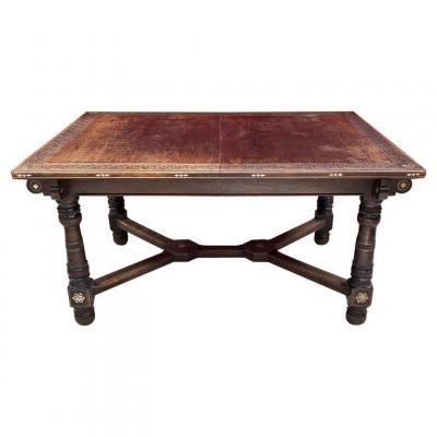 Oriental Art Table, From The Old St Georges Palace In Algiers, Circa 1880 J