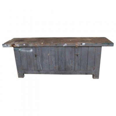 Old Workbench A Portes Circa 1930, In Its Juice