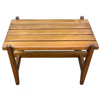 Reconstruction Style Pine Lounge Table, France Circa 1950