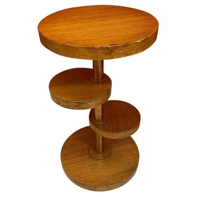 Art Deco Modernist Pedestal Table Circa 1930