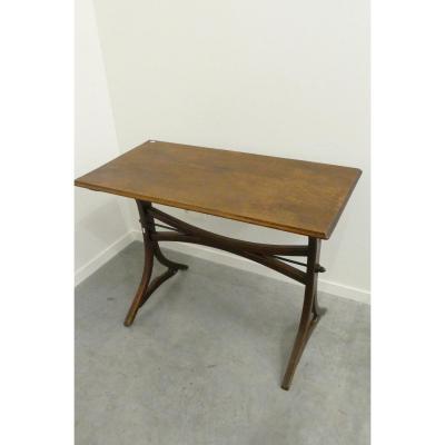 Bistro Table, Oak Top, Circa 1900