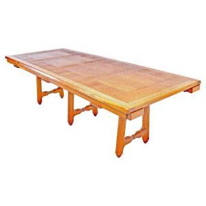"""Guillerme et Chambron Exceptionelle tres grande  table """"Gustave"""", Edition Votre Maison 1970"""