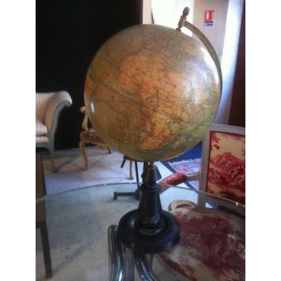 Globe Terrestre Par J.forest Géographe