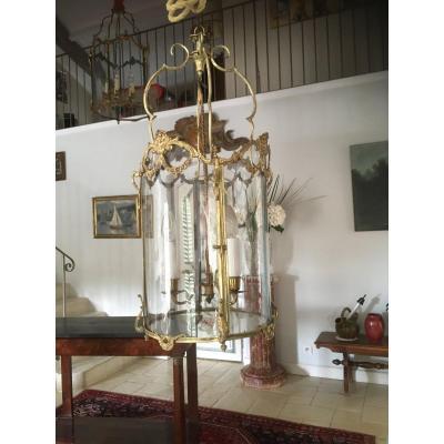 Lanterne De Vestibule Louis XV Bronze Doré