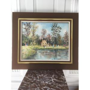 Framed Painting Of Claude Tabet Oil On Canvas