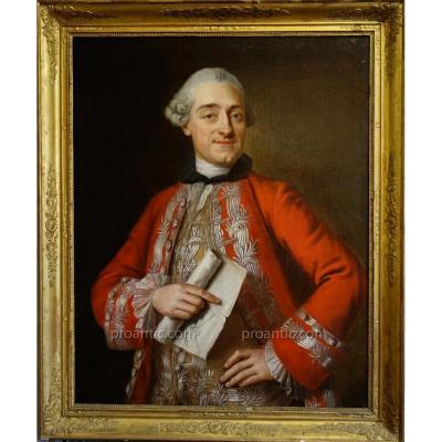 Portrait d'Un Ingénieur Militaire Sous Louis XV