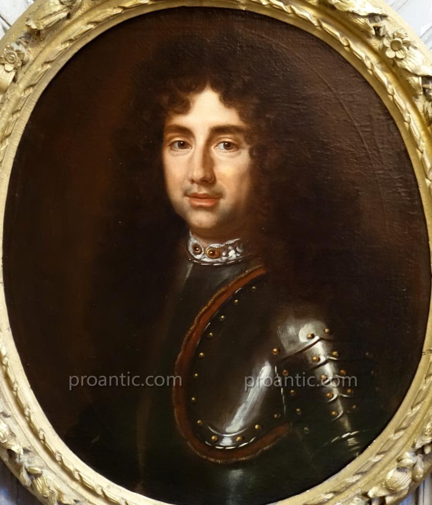 Portrait Of Man In Armor Louis XIV Era