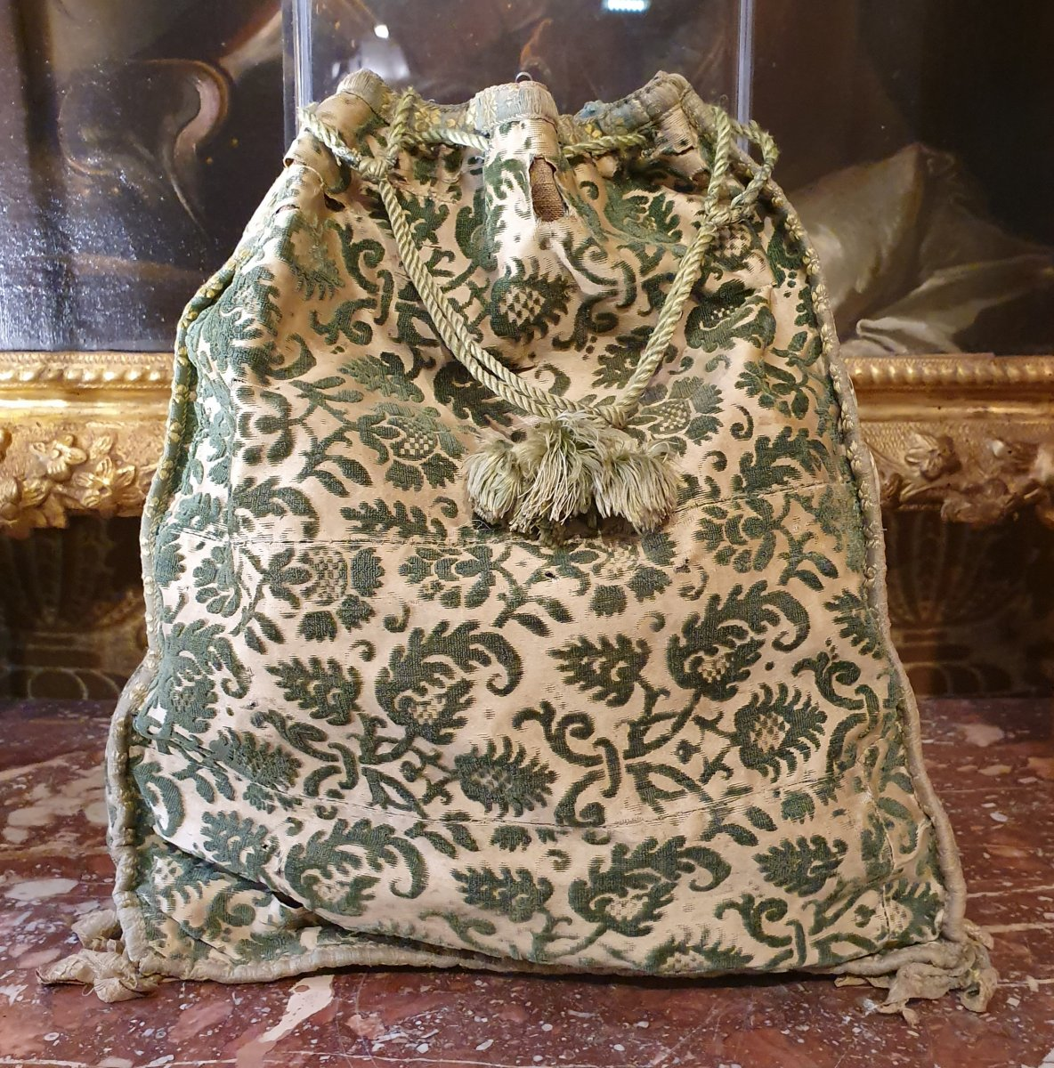 Chiseled Velvet Bag, Early XVIIth Century