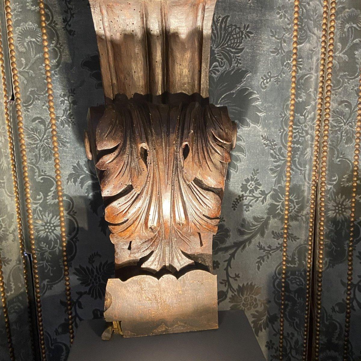 Paire De Figures En Noyer époque Louis XIV-photo-4