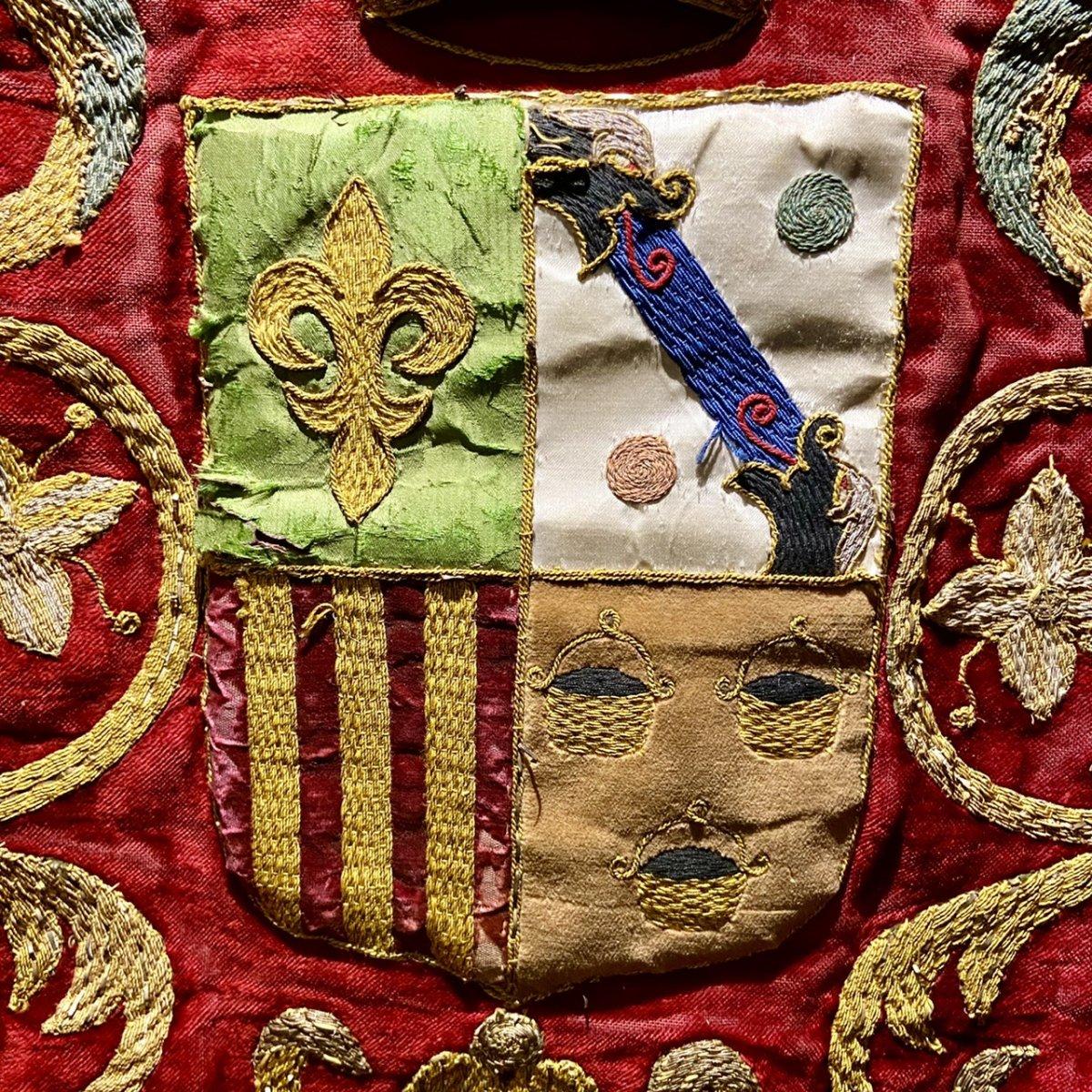 Armoiries Brodées XVIIIe Siècle