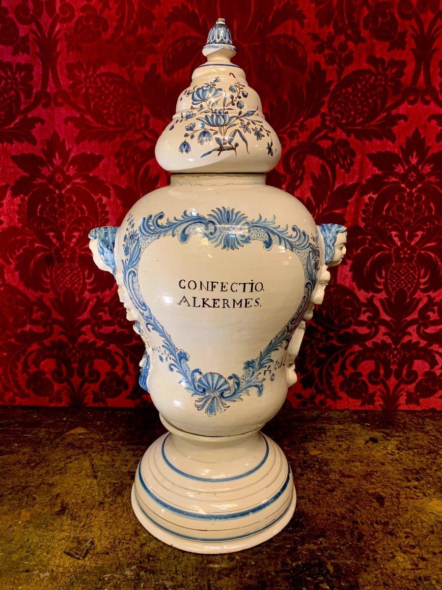 Grand Vase De Pharmacie Luneville XVIIIe