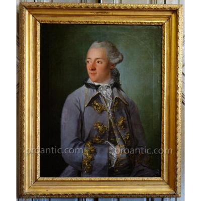 Portrait d'Un Homme De Qualité Epoque XVIIIème Siècle