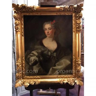 Portrait De Femme époque XVIIIème Siècle
