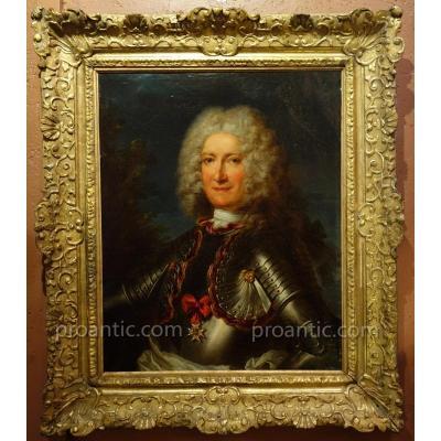 Portrait Attribué à Delyen Epoque XVIIIème Siècle