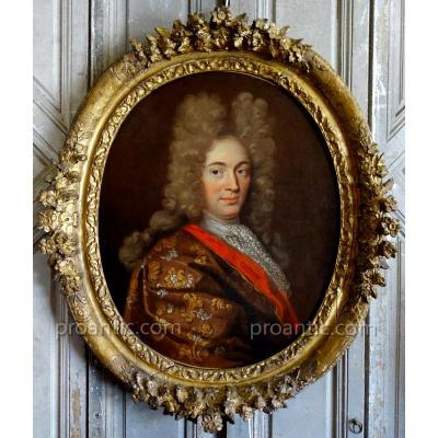 Portrait Of Man Period XVIIIth Century