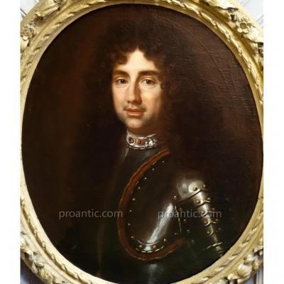 Portrait d'Homme En Armure Epoque Louis XIV