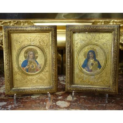 Arte Pauvera - Marie et Jesus XVIIIe siècle