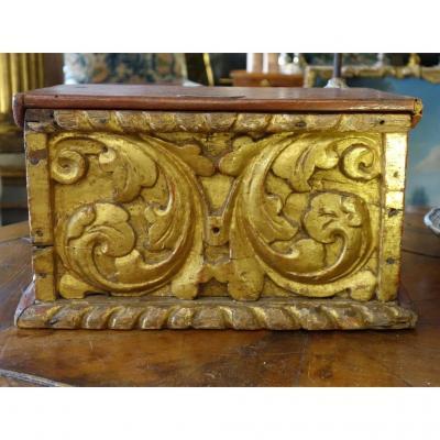 Box In Golden Wood Louis XIV Era