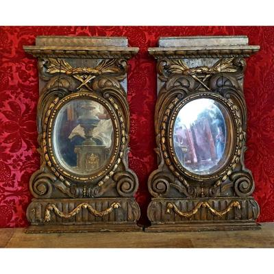 Pair Of Decorative Elements End Of The Eighteenth Century