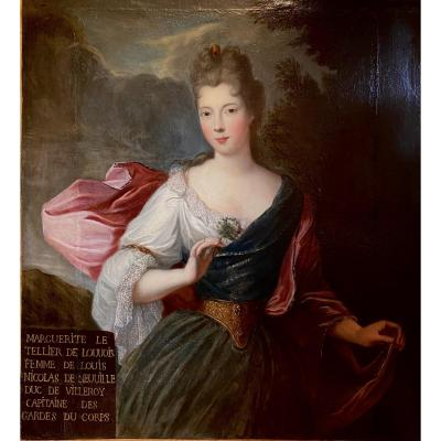 Grand Portrait De Dame - Ep. Louis XIV