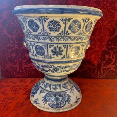 Rare Grand Vase En Faïence De Nevers - Début XVIIIe