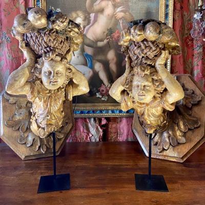 Rare Paire De Bras De Lumière époque Louis XIV