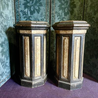 Pair Of Polychrome Sheaths Beginning Of The Nineteenth Century