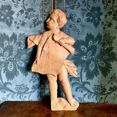 Charming 18th Century Wooden Character