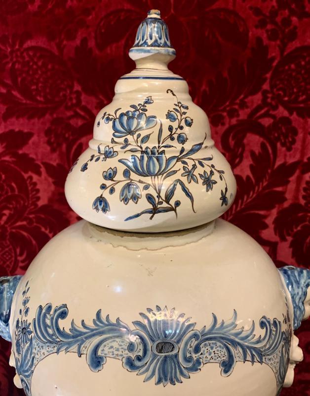 Grand Vase De Pharmacie Luneville XVIIIe-photo-3