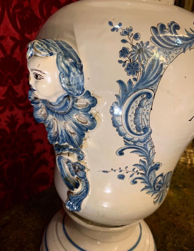 Grand Vase De Pharmacie Luneville XVIIIe-photo-4