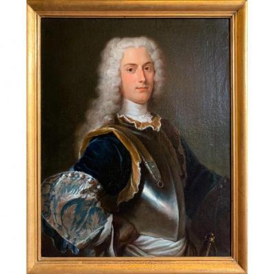 Portrait D'officier Général En Armure XVIIIe