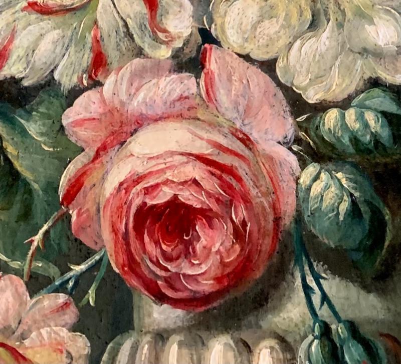 Bouquet De Fleurs Huile Sur Toile Fin XVIIIe-photo-4