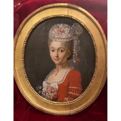 Portrait Provençal D'époque Louis XVI