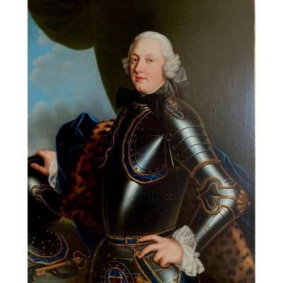 Portrait Du Comte De Licques époque Louis XV
