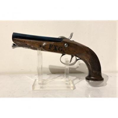Pistolet d'Officier à Percution, XIXème.