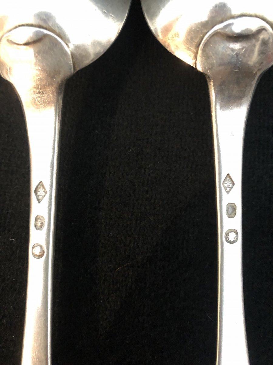 Six  Couverts En Argent - 2e Coq Et Vieillard-photo-4