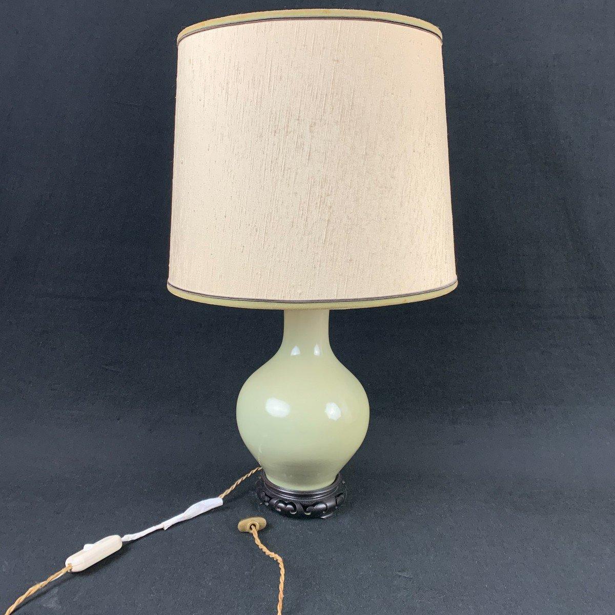 Vase Asie Monté En Lampe -photo-2