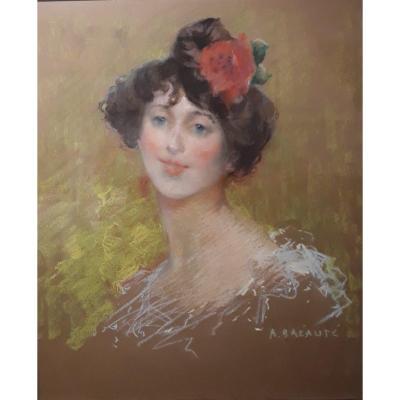 Portrait Of A Young Woman - A. Bréauté