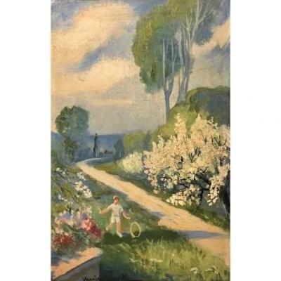 C. Mascre Souville, Huile Sur Panneau - Id: 428349